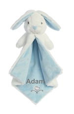 Blue and Grey Bunny Blanket