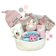 Baby Girl Organic Basket
