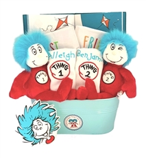 Dr Seuss Thing 1 and 2 Twins Basket