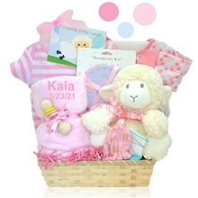 New Lamby Nap Time Gift Basket-Girl